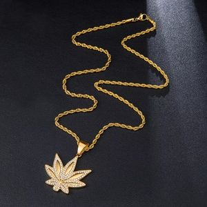 Iced Out Leaf Chain